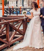Свадебное платье со съемным шлейфом. В единственном экземпляре!