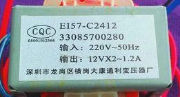 Трансформатор двухполярный 12Vx1.2A для акустики.