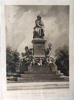 Две репродукции Памятник Бетховену в Вене размер 38.5/29.5см