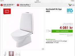 Toaleta + umywalka ceramika dla dzieci,nowe ifö sing 6820