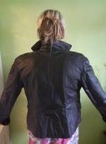 Куртка-пиджак кожаная женская
