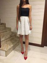 Biało-czarna gorsetowa sukienka AGNES XS
