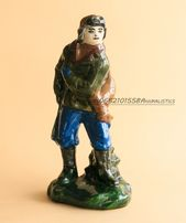 Фарфоровая статуэтка Охотник ЛКСФ Львов майолика обливная керамика