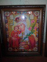 Картина икона вышита бисером неуведаемый цвет