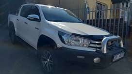 2016 Toyota Hilux 2.8 GD6 Double Cab RB Raider Automatic for sale.
