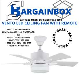 Vento LED Ceiling Fan with Remote