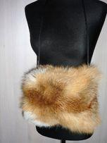 lis rudy, mufka z naturalnego lisa