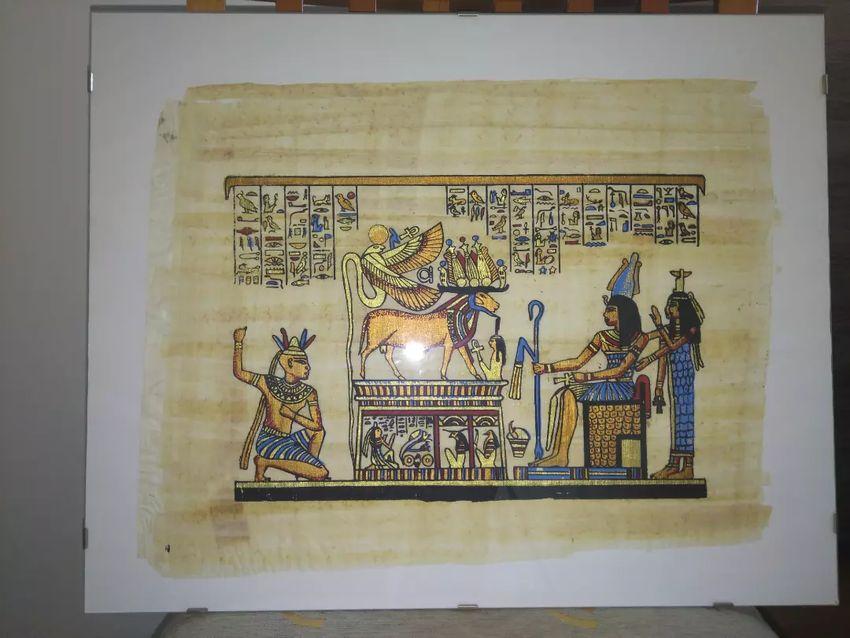 Egipatski papirusi uokvireni dim 50x40 cm 0