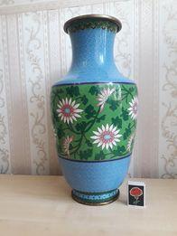 Старинная Китайская ваза 40 см Перегородчатая эмаль Клуазоне редкость