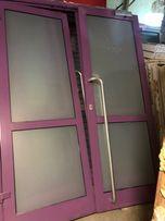 Drzwi aluminiowe podwójne