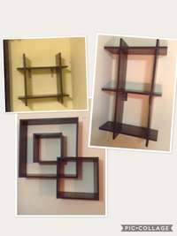 Image of 3 Wooden Wall Racks