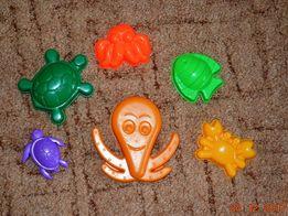 Набор пасочек для песочницы морские животные