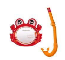 Набор для плавания маска + трубка Intex Акула Крабик гипоалергенный