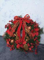 Новогоднее украшение - кольцо из елки