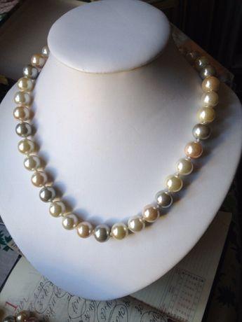 Naszyjnik kolia korale - sztuczne perelki w pasteliowych colorach. Sulejówek - image 2