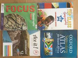 Geography Grade10-12 textbooks and atlas