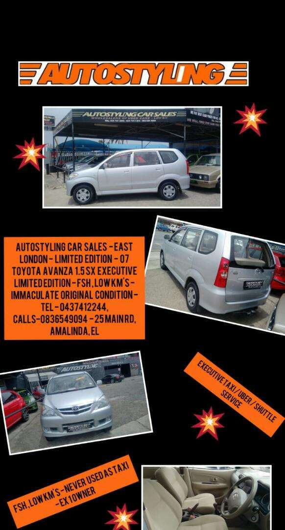 Autostyling Car Sales - EL - Immaculate 7seater Toyota Avanza 1.5 Sx 0