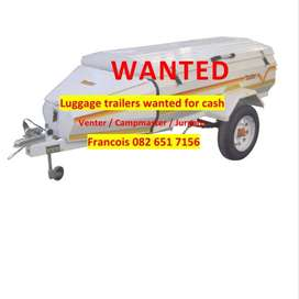 Luggage Trailers WANTED 4 CASH