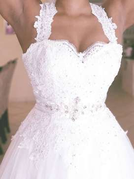 Wedding dress used only once.