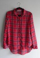Koszula czerwona w kratkę luźna zwiewna C&A M