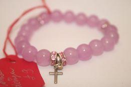 Bransoletka MoMo Design Prezent Walentynki Srebrny Krzyżyk