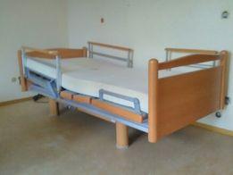 Łóżko rehabilitacyjne domowe meblowe na pilota z materacem