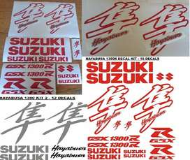 Suzuki Hayabusa fairing decals stickers vinyl cut graphics sets