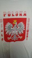 POLSKA t-shirt Godło '' XXL'' i ''L'' bawełna biała