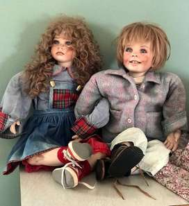 Hand made and hand painted porcelain dolls