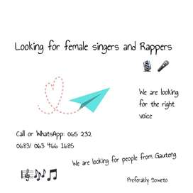 Lookih for female singers and rappers