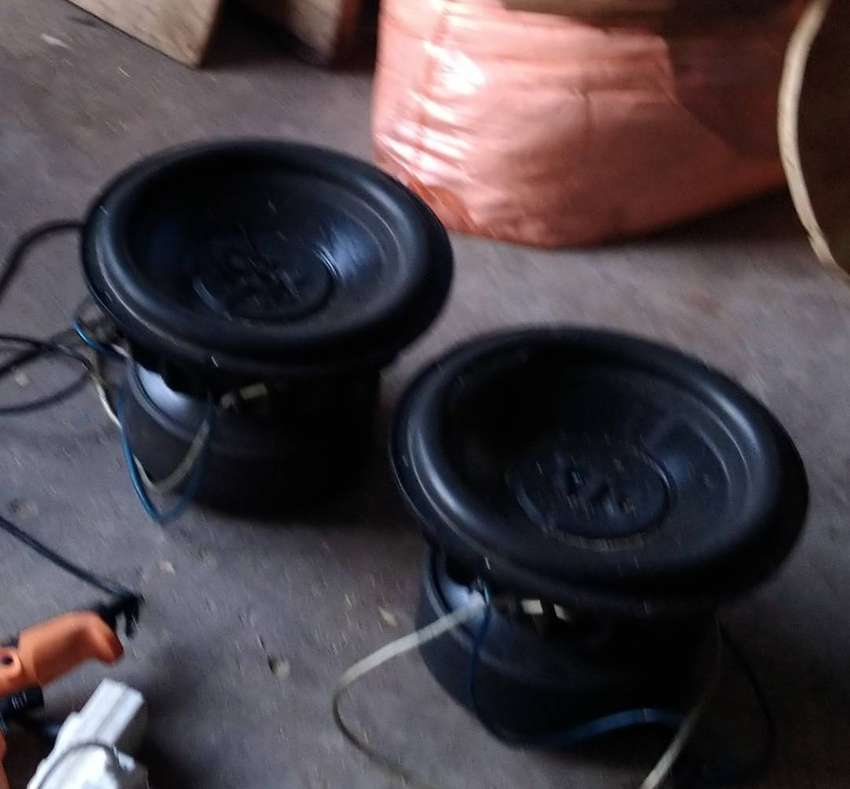 2 x xtc big daddy's 12 inch subwoofers 0