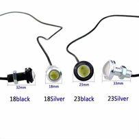 Дневные ходовые габаритные огни 23мм LED лампочка светодиодная ДХО