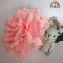 Большая роза из гофрированной бумаги
