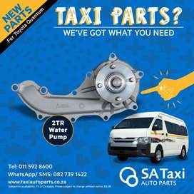 New 2TR Water Pump suitable for Toyota Quantum - SA Taxi Auto Parts