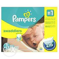 Pampers swaddler size 1 (216count) 0