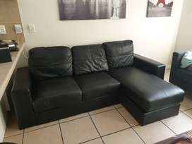 3 Seater adjustable corner couch