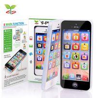 Telefon NOWY komórkowy zabawka Smartfon Iphone grający siwecacy edukac