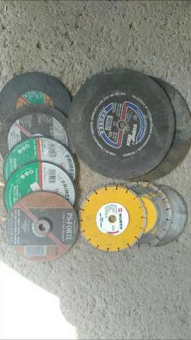Variety of cutting and grinder discs