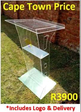 Clear Industrial Acrylic Budget Pulpit