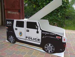 Кровать машинка,машина,Хаммер,хамер полиция.Бесплатная доставка!