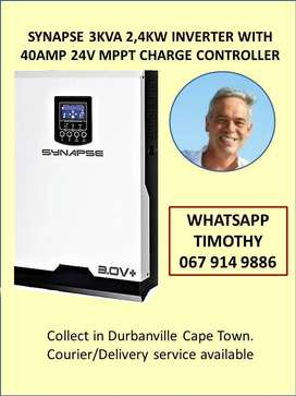 SYNAPSE 3KVA 2.4KW inverter with 40amp 24v MPPT charge controller