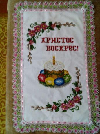 Великодній рушник вишитий чеським бісером Дубно - изображение 3