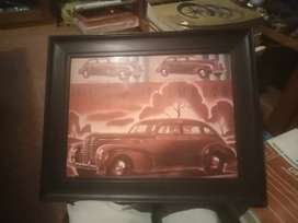 Plymouth 1939, framed original brosjure,