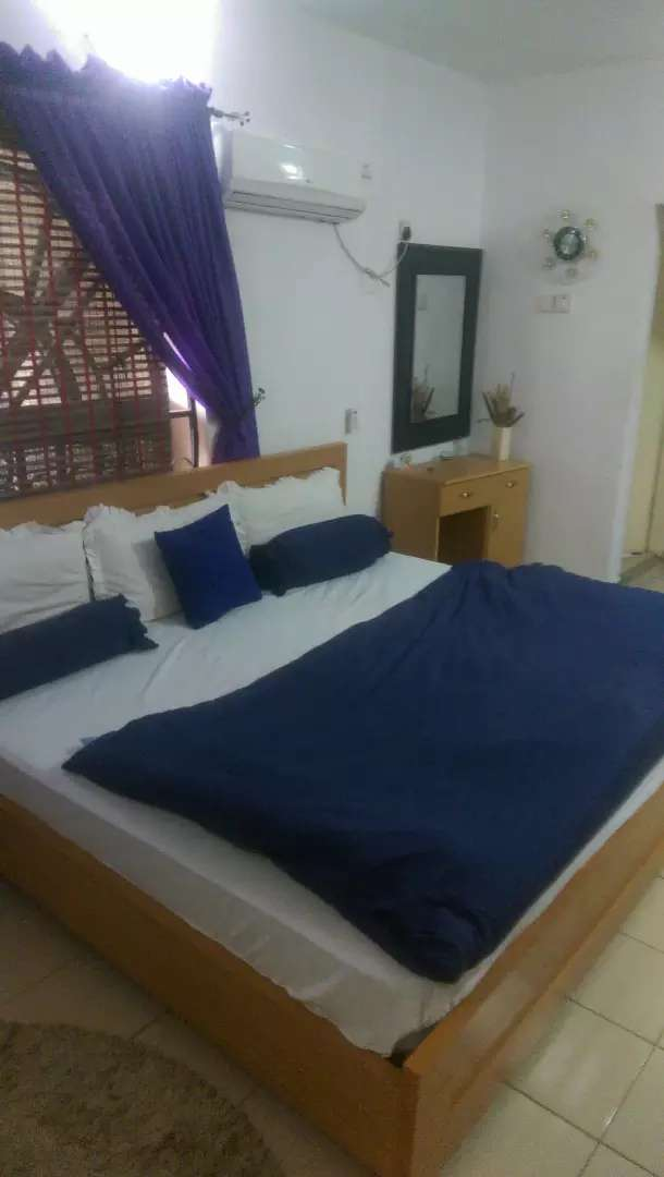 Serviced and furnished apartment with 24 hrs electricity 0