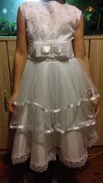 Продам нарядное белое платье