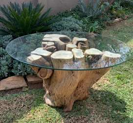 Hand-crafted natural coffee table