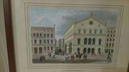 Piękna widokówka DAS THALIA-THEATER IN HAMBURG 1849 oprawiona w ramkę