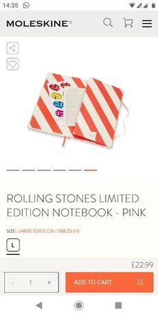 Moleskine The Rolling Stones Limited Edition Одесса - изображение 2