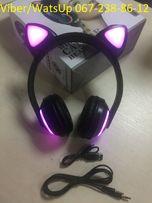 Bluetooth Наушники с светящимися КОШАЧЬИМИ УШКАМИ 7 цветов в 1 ZW-19