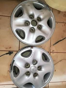 "2 * 14"" 5 hole by 114pcd mazda rim"
